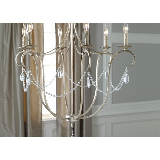 Cali Aged Silver Chandelier