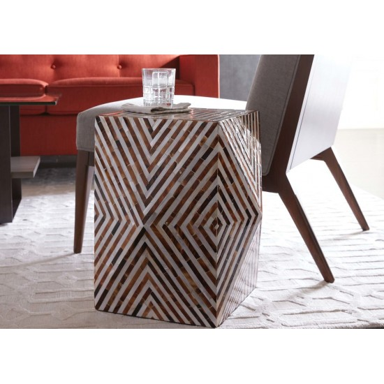 Alanna Mother-of-Pearl Accent Table